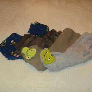 Lot of 4 pairs of Boys PJ Bottoms Infant 9& 12 Mos